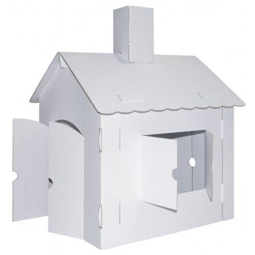 Papírový dům XL k pomalování z kartónu