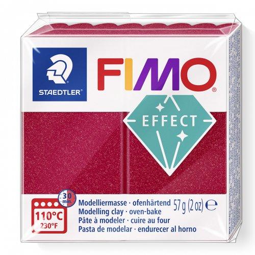 FIMO efekt metalická rubínová 57g