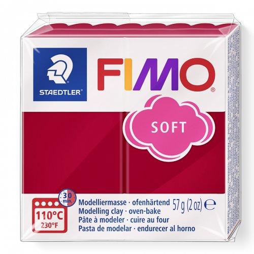 FIMO soft tmavě červená 57g