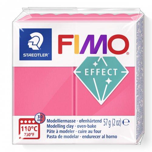 FIMO efekt transparentní červená 57g
