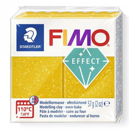 FIMO efekt zlatá se třpytkami 57g