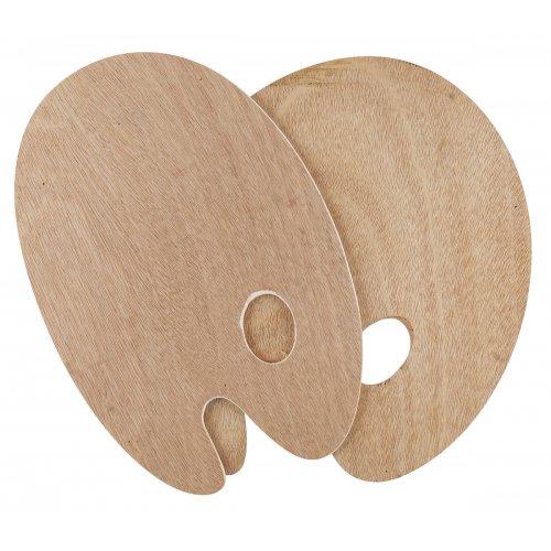 Malířská paleta dřevo SOLO GOYA oval 25 x 30 cm, tl. 5 mm