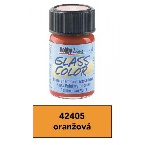 Barva na sklo transparentní HOBBY LINE oranžová 20 ml