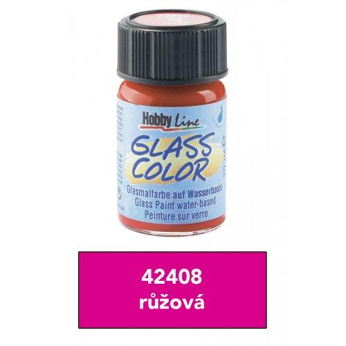 Barva na sklo transparentní HOBBY LINE růžová 20 ml
