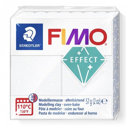 FIMO efekt bílá se třpytkami 57g