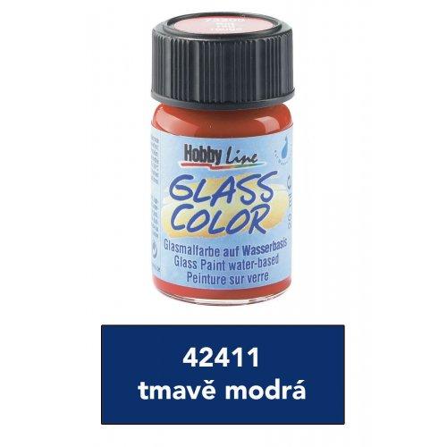 Barva na sklo transparentní HOBBY LINE tmavě modrá 20 ml