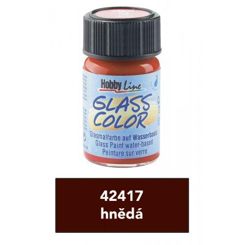Barva na sklo transparentní HOBBY LINE hnědá 20 ml