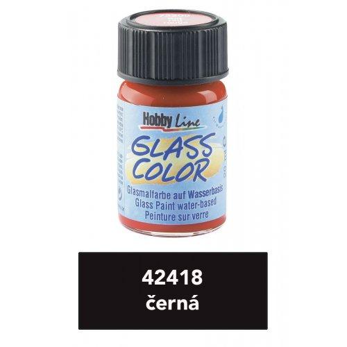 Barva na sklo na vodní bázi HOBBY LINE černá 20 ml