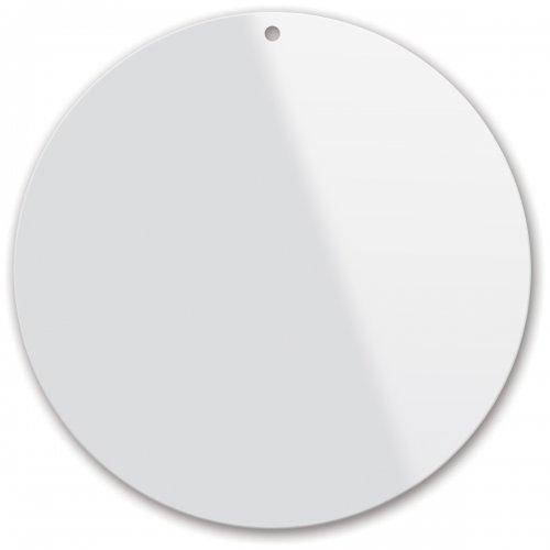 Plexisklo pro malbu na sklo, tvar ovál, průměr 10 cm