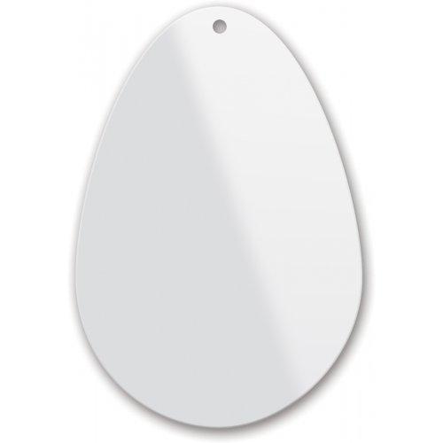 Plexisklo pro malbu na sklo, tvar slza, 9,6 cm