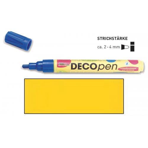 Fix dekorační DECOpen 2 - 4 mm žlutý