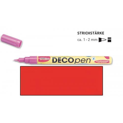 Fix dekorační DECOpen 1 - 2 mm červený