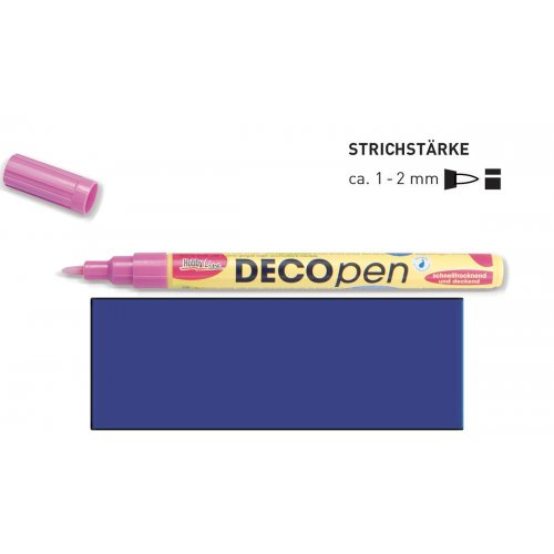Fix dekorační DECOpen 1 - 2 mm modrý
